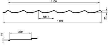 Схема металлочерепицы Металл-Профиль Монтеррей